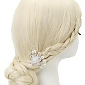 Raso Cristal Perla Artificial Brillante Pasador de Pelo 1pc Celada