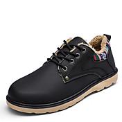 メンズ 靴 レザーレット 冬 コンバットブーツ ブーツ ウォーキング 編み上げ 用途 カジュアル ブラック ブルー キャメル