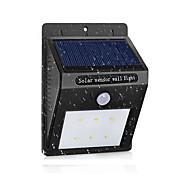 led lámpara solar a prueba de agua pir motion sensor luz solar jardín de la energía led luz solar al aire libre abs lámpara de pared