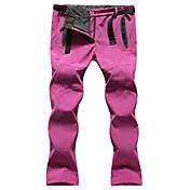Mujer Pantalones para senderismo Al aire libre Impermeable Mantiene abrigado Resistente al Viento Forro Polar Aislado Resistente a la