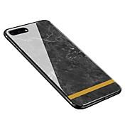 Funda Para Apple iPhone X iPhone 8 Plus Diseños Cubierta Trasera Mármol Suave Vidrio Templado para iPhone X iPhone 8 Plus iPhone 8 iPhone