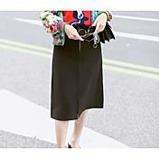 Mujer Casual/Diario Midi Faldas Otoño Un Color
