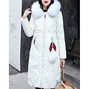コート ダウン レディース,お出かけ カジュアル/普段着 ソリッド コットン ポリプロピレン-ストリートファッション 長袖