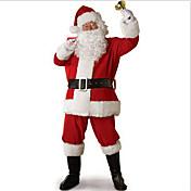 サンタスーツ コスプレ衣装 パーティーコスチューム 男性用 ハロウィーン クリスマス イベント/ホリデー ハロウィーンコスチューム パッチワーク