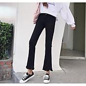 Mujer Casual Microelástico Chinos Pantalones,Un Color