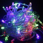 luces interiores decoración al aire libre 10 m 100 leds led luces de cadena us eu enchufe enchufe luces de hadas