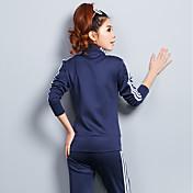 レディース スポーツ パーカー パンツ スーツ,シンプル 縞柄