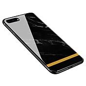 Funda Para Apple iPhone X iPhone 8 Plus Diseños Funda Trasera Mármol Suave Vidrio Templado para iPhone X iPhone 8 Plus iPhone 8 iPhone 7