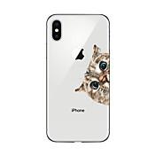 Funda Para Apple iPhone X iPhone 8 Plus Transparente Diseños Cubierta Trasera Gato Suave TPU para iPhone X iPhone 8 Plus iPhone 8 iPhone