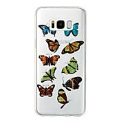 Funda Para Samsung Galaxy S8 Plus S8 IMD Diseños Cubierta Trasera Mariposa Brillante Suave TPU para S8 Plus S8 S7 edge S7