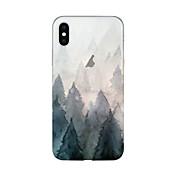 Funda Para Apple iPhone X iPhone 8 Plus Transparente Diseños Cubierta Trasera Árbol Suave TPU para iPhone X iPhone 8 Plus iPhone 8 iPhone