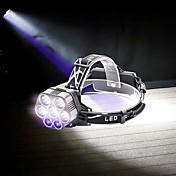 U'King Lámparas Araña Linternas de Cabeza LED 6000 lm 6 Modo LED Portátil Duradero Camping/Senderismo/Cuevas De Uso Diario Ciclismo Caza