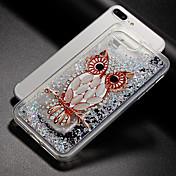 Funda Para Apple iPhone X iPhone 8 Líquido Diseños Cubierta Trasera Búho Brillante Suave TPU para iPhone X iPhone 8 Plus iPhone 8 iPhone