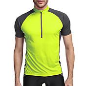 KORAMAN Hombre Manga Corta Maillot de Ciclismo - Verde Azul Bicicleta Camiseta/Maillot, Secado rápido, Transpirable, Bandas Reflectantes