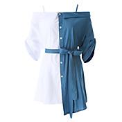 女性用 シフト ドレス 多色 シャツカラー