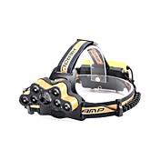 U'King シャンデリア ヘッドランプ LED 8000 lm 6 モード LED パータブル 耐久 キャンプ/ハイキング/ケイビング 日常使用 サイクリング 狩猟 釣り ゴールド レッド