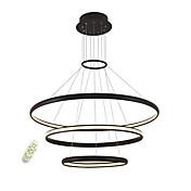 sin electrodos de atenuación led luces colgantes simplicidad moderna tres anillos salón dormitorio restaurante araña