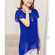 blusa de poliéster de trabajo de mujer - sólida, básica