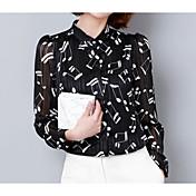 Mujer Básico Estampado Camisa Geométrico