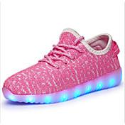 Chico Zapatos Tul Otoño Zapatos con luz Zapatillas de Atletismo Paseo LED para Azul / Verde / Rosa