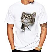 Hombre Bonito Chic de Calle Estampado Camiseta Animal