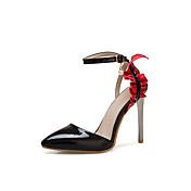 Mujer Zapatos Cuero Sintético Primavera verano Pump Básico Sandalias Tacón Stiletto Dedo Puntiagudo Blanco / Negro