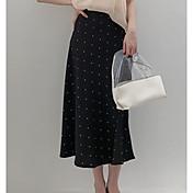 Mujer Noche / Playa Columpio Faldas A Lunares Alta cintura