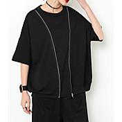 camiseta de mujer - cuello redondo de color sólido