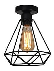Vintage 1-lys sort metal bur loft loft lampe flush mount spisestue køkken lysarmatur