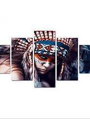 Fem Paneler Horisontal Print Vægdekor For Hjem Dekoration