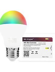 6W Smart LED-lampe A60(A19) 14 SMD 5050 600 lm RGB + Hvid Infrarød sensor Dæmpbar Fjernstyret WIFI APP kontrol LysstyringVekselstrøm