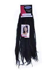 Afro Kinky Fletninger Hårkrøller Afro Dreadlock Extensions 100 % Kanekalon hår Medium Rødbrun Mørk Rødbrun Mørk vin Rødbrun Mellembrun