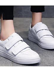 Damer Sko Åndbar Blanding PU Forår Efterår Komfort Sneakers Til Afslappet Hvid