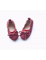 Para Meninas sapatos Camurça Outono Inverno Conforto Mocassins e Slip-Ons Para Casual Cinzento Escuro Vinho