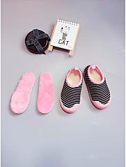 Para Meninas sapatos Tecido Outono Inverno Conforto Mocassins e Slip-Ons Para Casual Preto Roxo Azul Rosa claro Branco/Preto