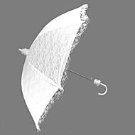 "Nuntă Dantelă Umbrelă Mâner Cârlig 29.5""(Approx.75cm) Plastic 35.4""(Approx.90cm)"