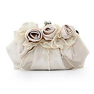 お買い得  イブニングバッグ-女性 バッグ サテン イブニングバッグ フラワー のために イベント/パーティー パープル レッド ピンク キャメル クリスタル