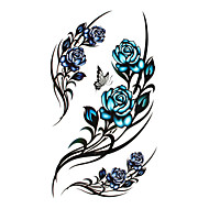 Tattoo Stickers Flower Series Pattern Waterproof Women Girl Teen Flash Tattoo Temporary Tattoos