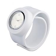 Dame Skub-Træk Silikone Bånd Armbåndsur