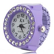billige Ring Ur-Dame Ringur Armbåndsur Japansk Quartz Imiteret Diamant Plastik Bånd Glitrende Mode Sort / Hvid / Pink - Sort Lilla Lys pink Et år Batteri Levetid / SSUO SR626SW