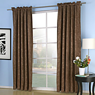 Rod Pocket Grommet Top Tab Top Double Pleat Two Panels Curtain Neoclassical , Embossed Solid Bedroom 100% Polyester Polyester Material