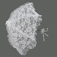 "Wedding Lace Umbrella Hook Handle 27.6""(Approx.70cm) Plastic 28.4""(Approx.72cm)"