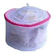 violet textiel opvouwbare ondergoed waszak met frame en rits