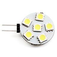 billige Bi-pin lamper med LED-2 W 2700 lm G4 LED-spotpærer 6 LED perler SMD 5050 Naturlig hvit 12 V / #