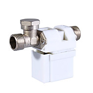 12V 0.5 Inch Electric Solenoid Valve for Water Air Gas (White)