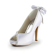 Svart / Blå / Rosa / Lilla / Rød / Elfenbenshvit / Hvit / Sølv / Gull / Sjampagne - Bryllup sko - Dame - Hæler / Åpen tå - høye hæler -
