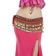 Trbušni ples Pojas Žene Seksi blagdanski kostimi Poliester Perlica Kovanice Trbušni ples Hip Šal