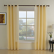 Two Panels Curtain Neoclassical Living Room Polyester Material Sheer Curtains Shades Home Decoration For Window