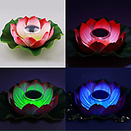 culoare alimentat solar schimbarea plutitoare floare de lotus grădină bazin lampă de noapte