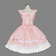 Prinsesse Sød Lolita Sød Lolita Dame Kjoler Cosplay Lyserød Uden ærmer Medium Længde Halloween Kostumer
